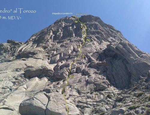 Torozo, Gran Diedro. V+, 220 m. D+