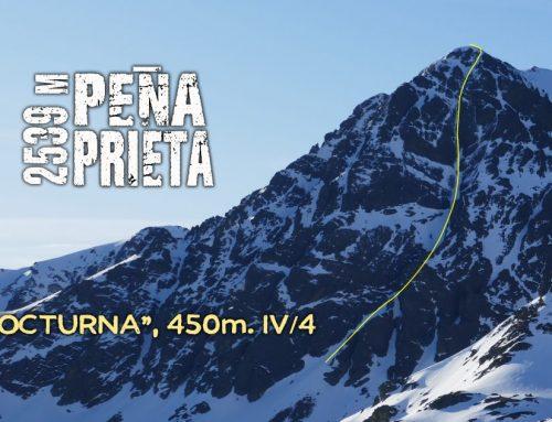 Peña Prieta, vía Nocturna. 450 m IV/4