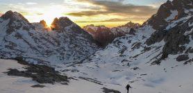 Torre de la Palanca en esquís. Vuelta circular